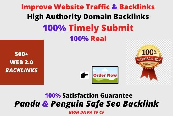 I will create 500+manual web 2.0 backlinks for unique sites.