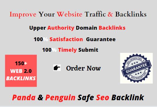 Make high 150+manual web 2.0 backlinks for unique sites.