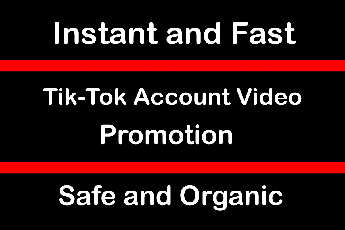 Very Fast TikTok Video Account Promotion and Marketing via Organic Audience