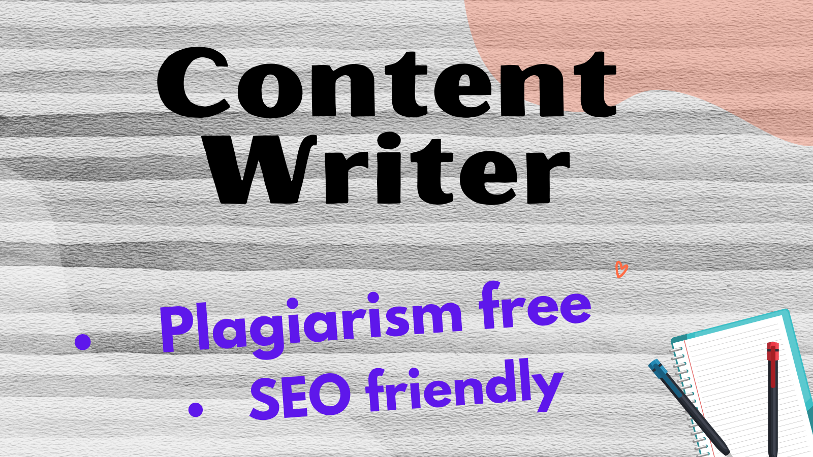 Will write SEO optimized 600 word plus content