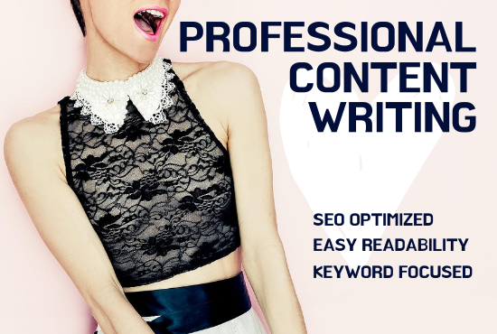 will write professional SEO optimized content