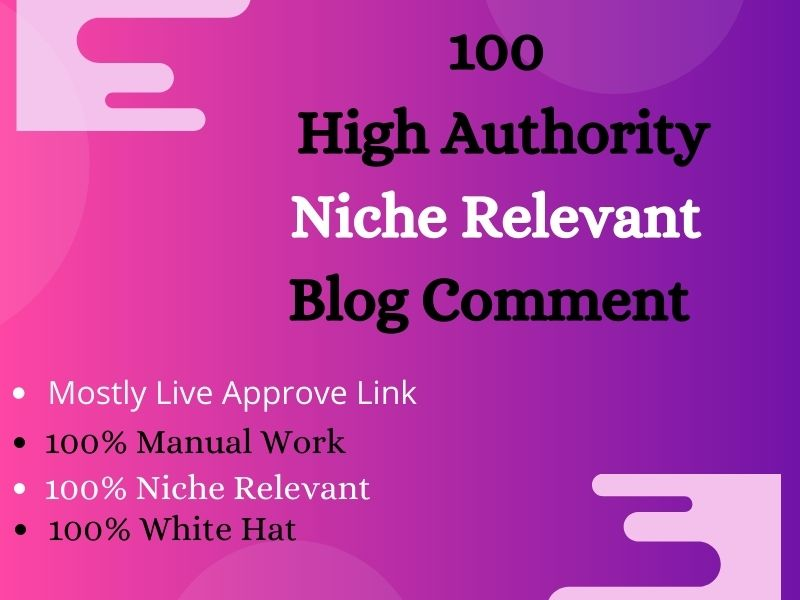 I Will Provide 100 Trust Flow Blog Comments With High Authority Domains