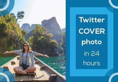 I will create unique twitter cover photo in 24 hours
