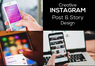 I will create unique Instagram post & Story design for you in 24 hours