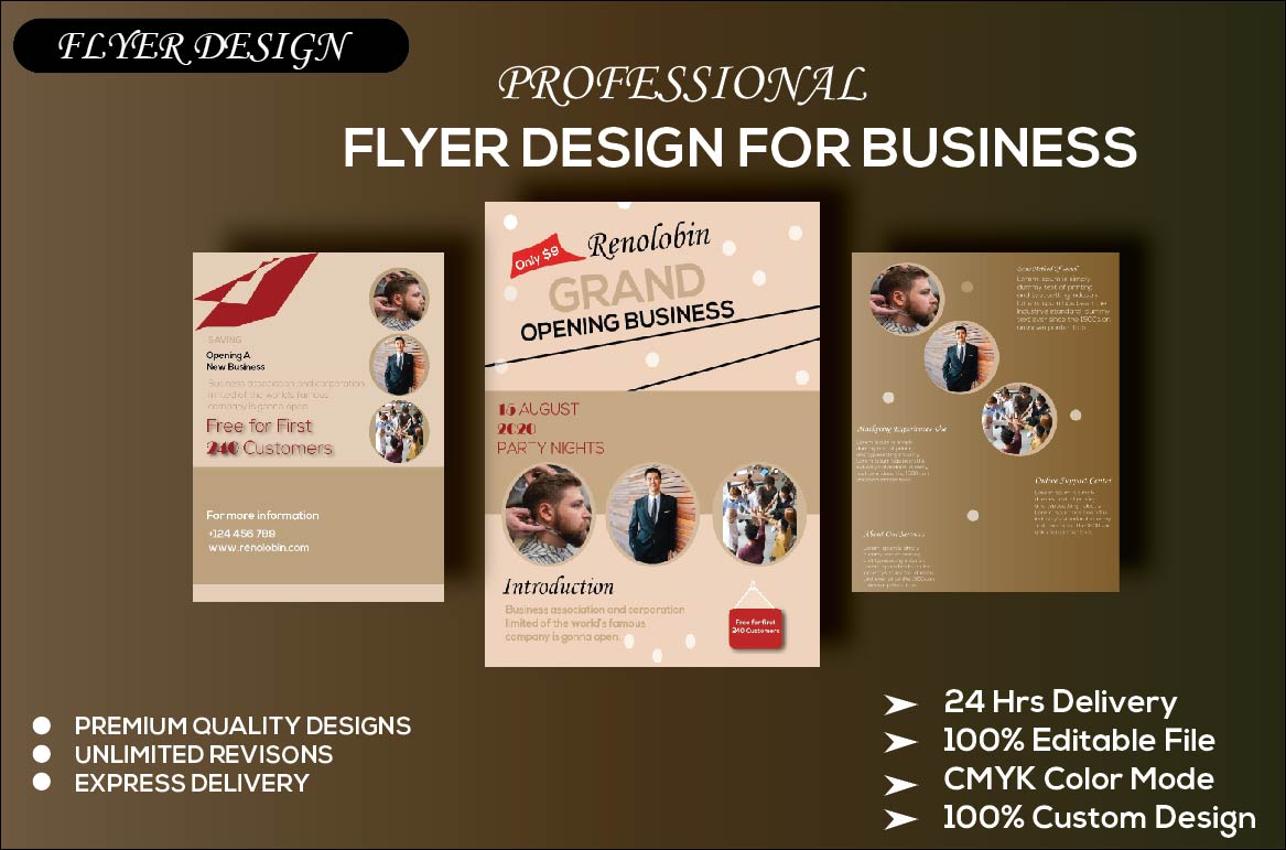 I will make creative flyer/poster design for you within 24 hours.