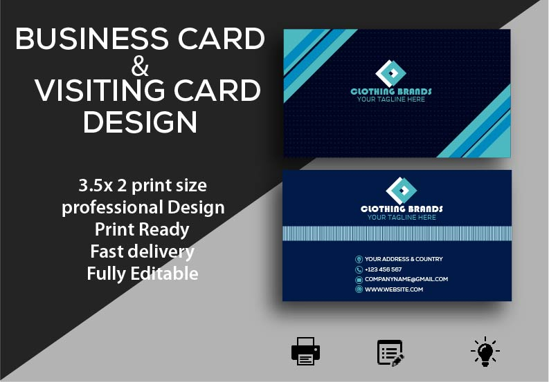 I Will Design Professional Business or Visiting Card