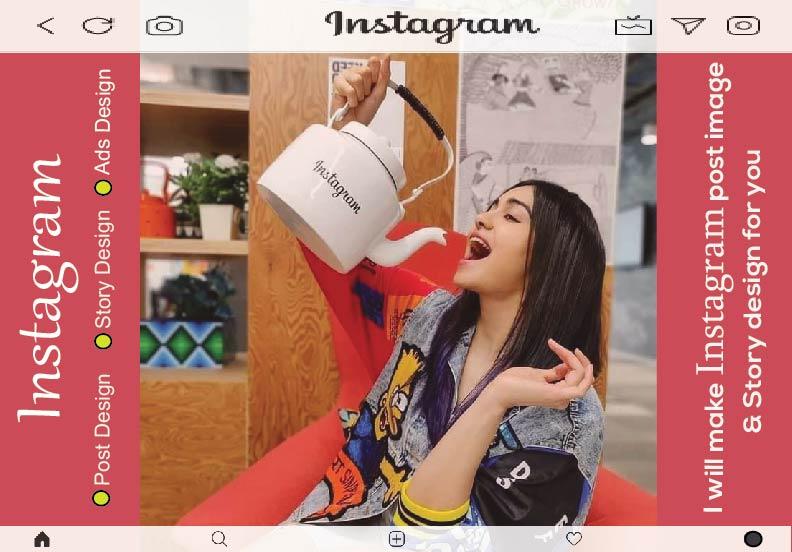 I will create 10 Instagram post & story design