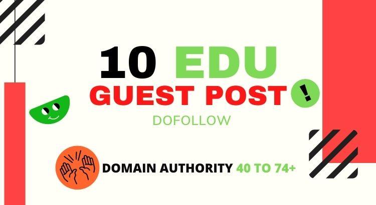 DOFOLLOW EDU GUEST POST - From High Traffic Educational Website