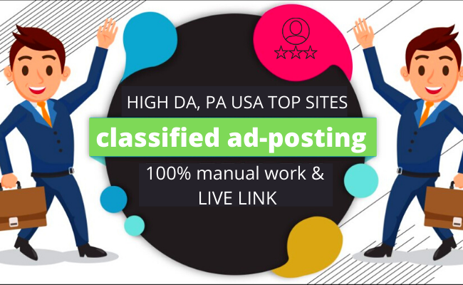 High Traffic 80 classified add post on USA Canada UK site's