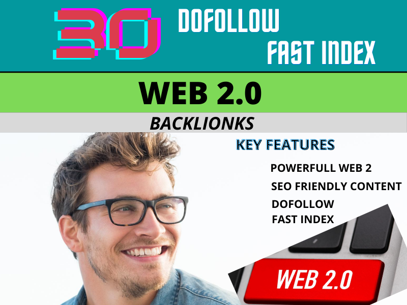 I will create 30 super web 2 backlinks with unique content
