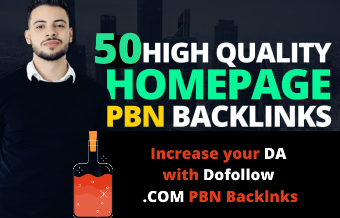 I will build 50 PBN homepage high quality dofollow backlinks