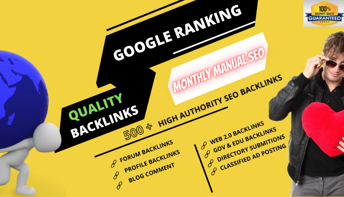 I will deliver a complete monthly SEO service with backlinks for google top rank