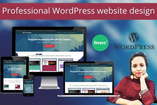 I will create professional wordpress website design for business
