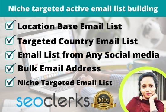 I will Provide targeted 1k active email list