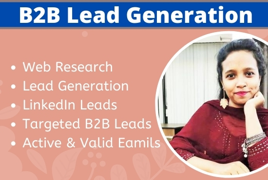 I will do 50 targeted b2b lead generation and Web research