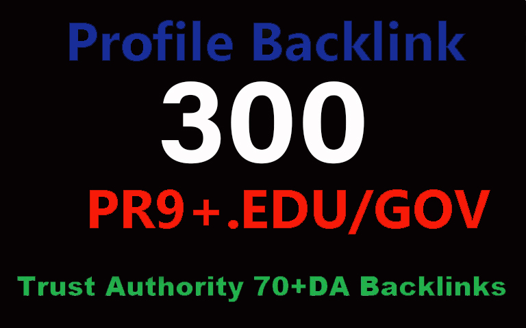 Powerful High Authority 300 EDU. Gov. Backlinks