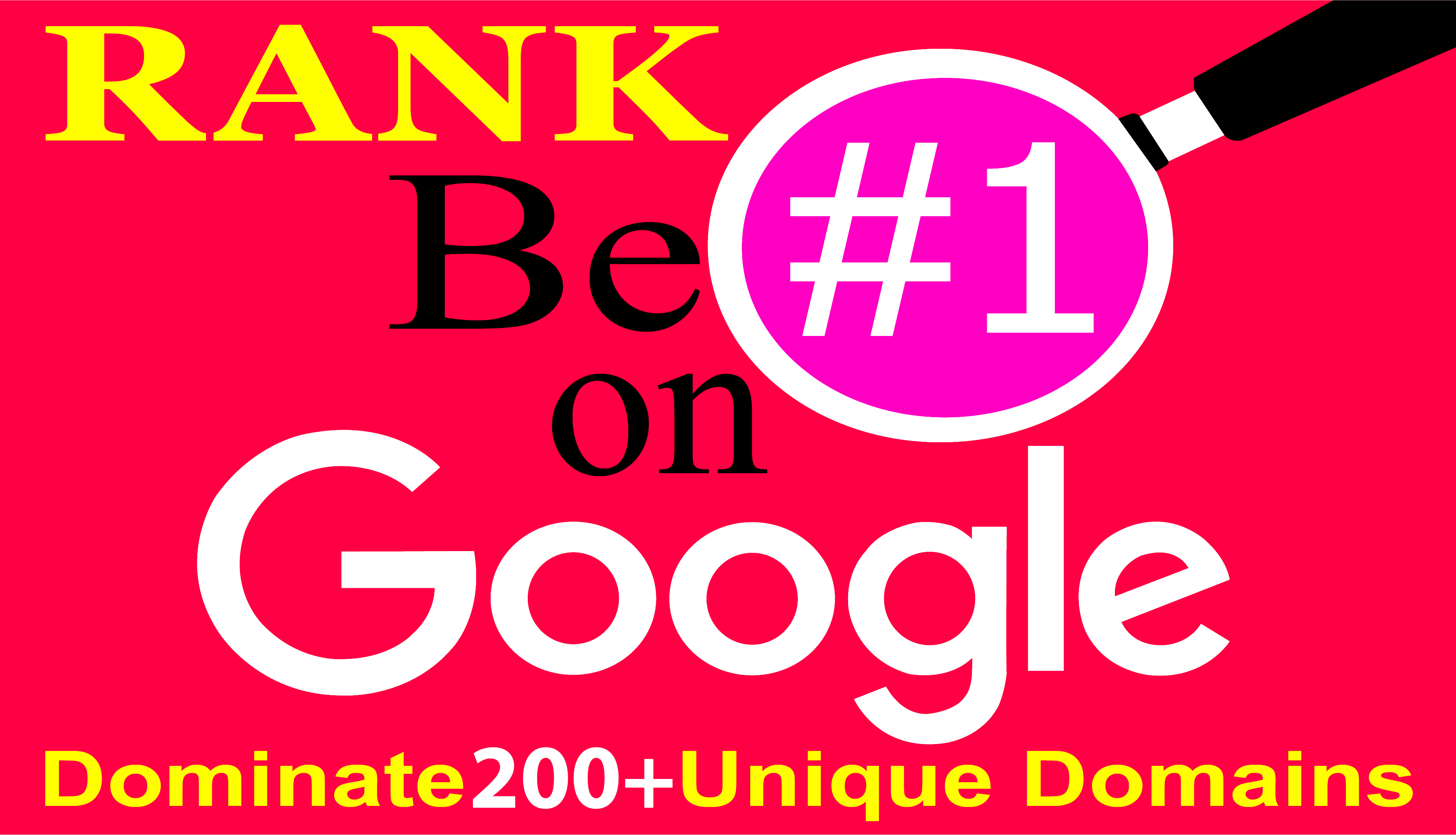 Google 1st Page Dominate 200+ Manually Unique Authority Domains Get Your Result Within 3 Weeks