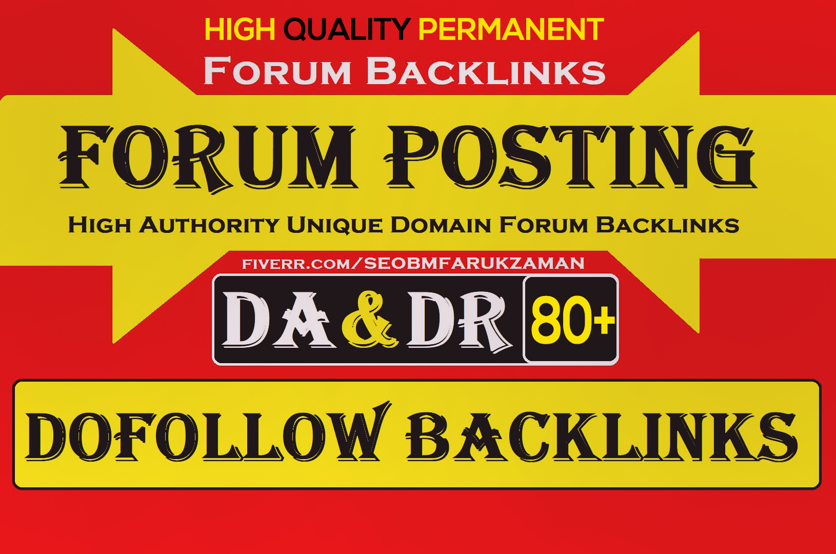 High Da 80 plus forum posting Dofollow backlinks