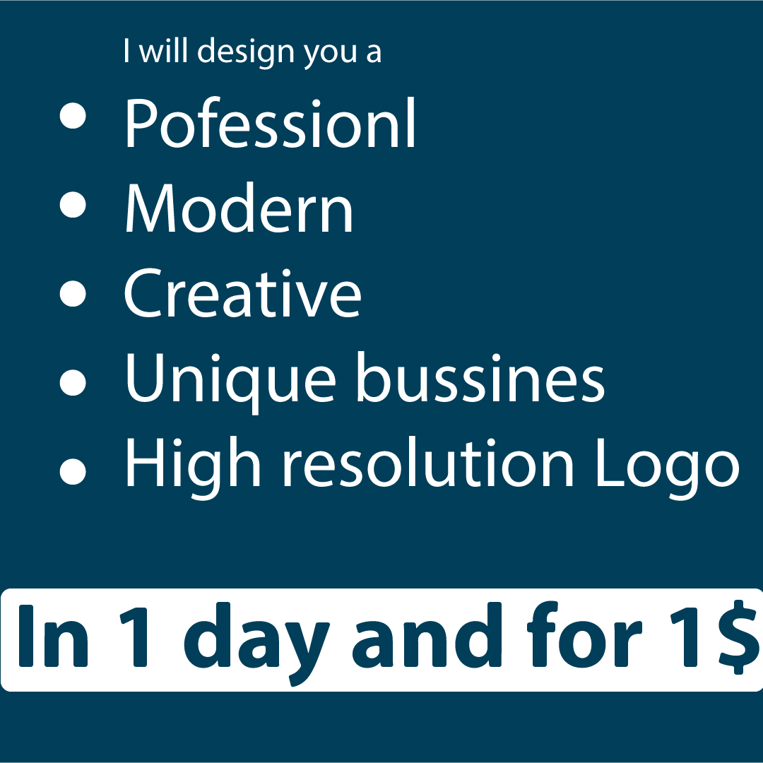 I will design you a unique and professional logo
