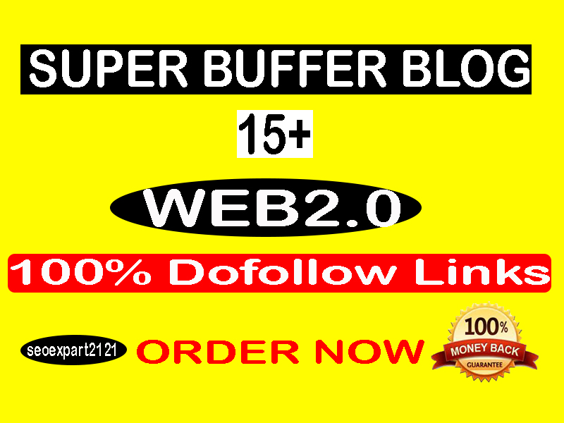 I will make manually 15 high authority web 2 0 backlinks buffer blogs
