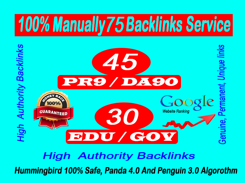 Limited Offer- 45+ pr9 and 30 Edu Gov Backlinks High-Quality Authority Domains-Skyrocket your site