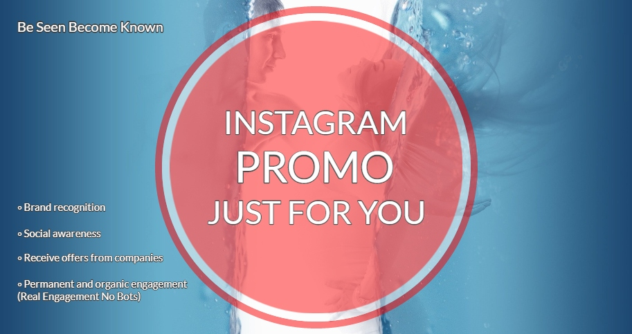 My Instagram Promotion at any day and any time just for you!