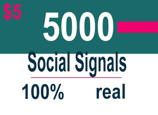 5000 Powerful Mixer Social Signals