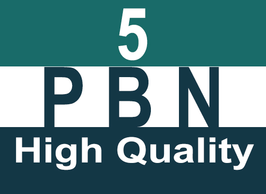 Create 5 High Quality Hompage PBN Backlinks