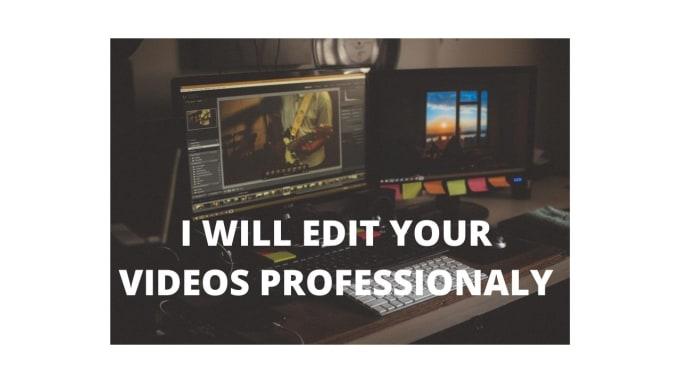 I will edit your video professionally using wondershare filmora9