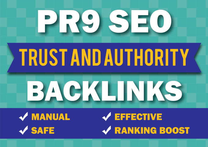 I will Do 25 PR9 Top 80+DA Trusted Authority SEO Backlinks For your Website