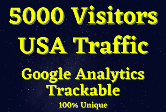 I will give you 5,000 high quality USA organic traffic