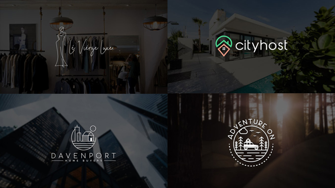 I will create a modern, flat, minimalist, custom, unique logo