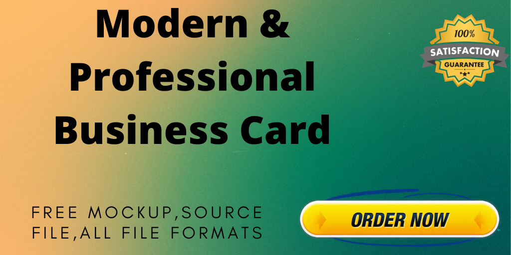I Will Make a Modern and Professional Business Card in 24 Hours