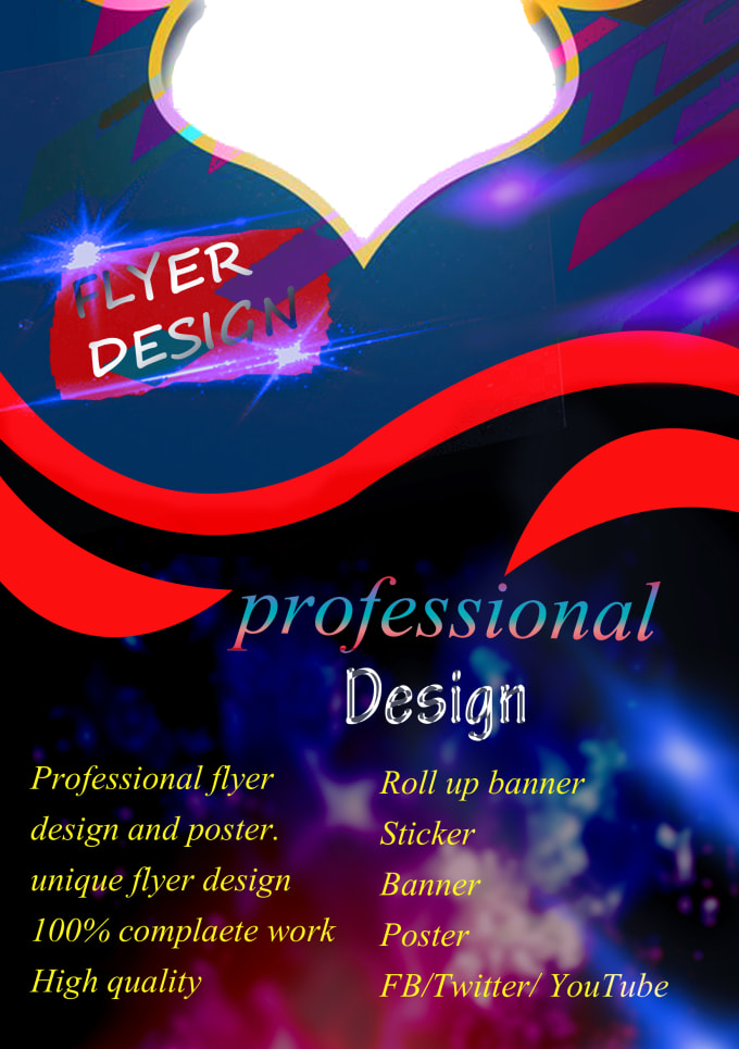 I will design you a retro style poster or flyer