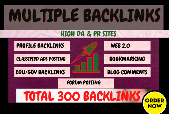 Multiple SEO Backlink Services for Ranking Your Website on Google Top Page