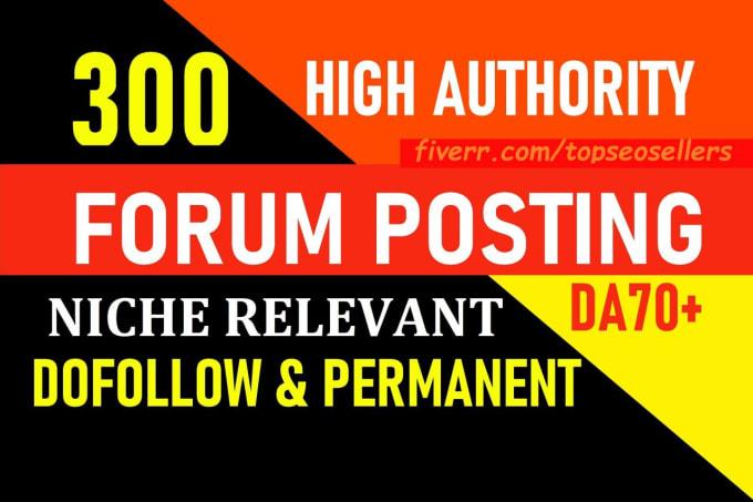 50 forum posting backlinks da 50 plus