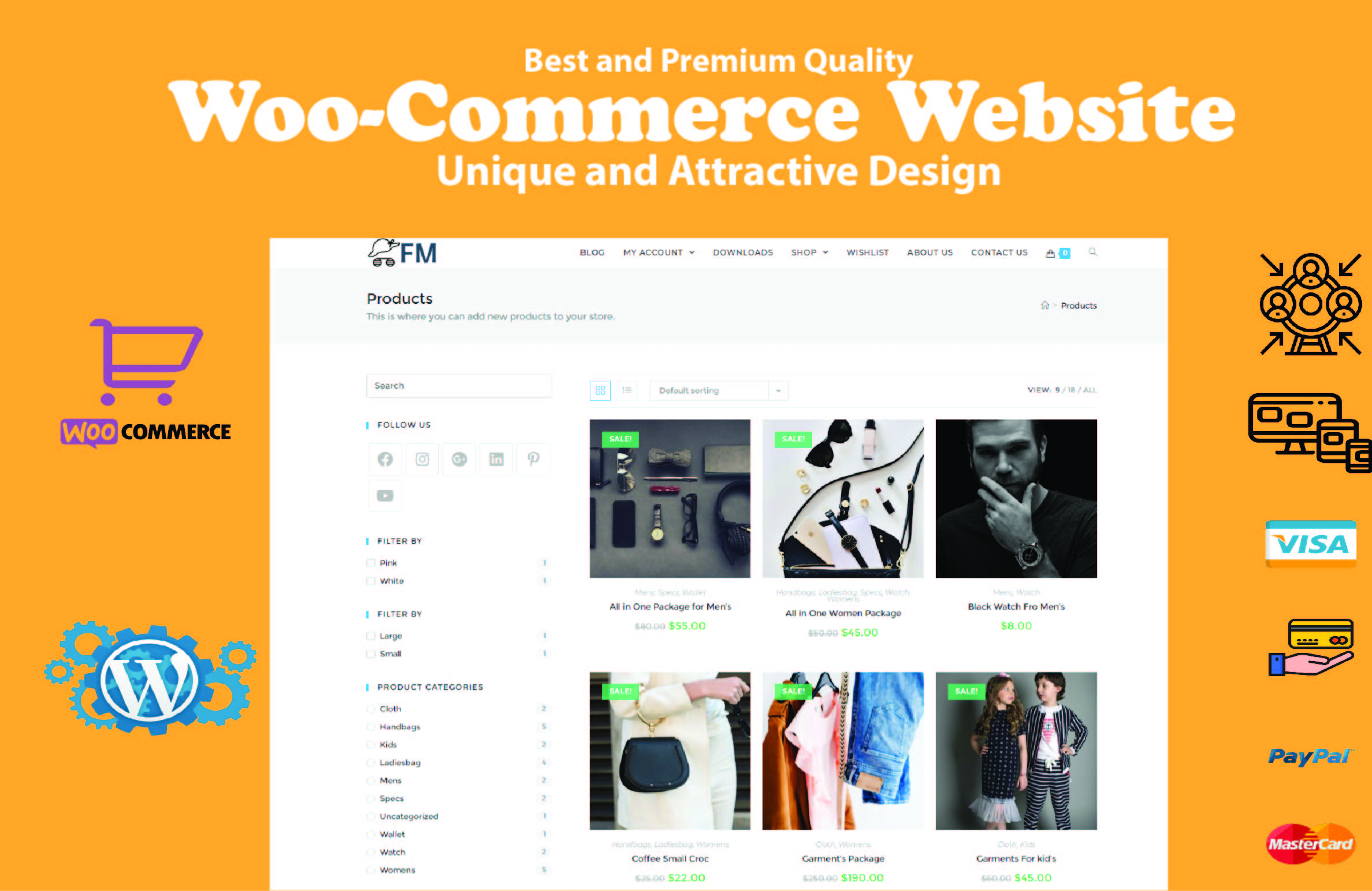 I will Create woocommerce Online Store for you E-Commerce