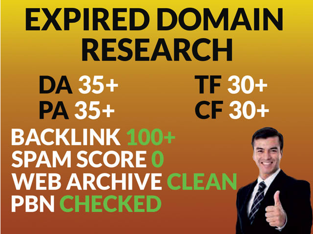 I will find your niche related expired domain with high 15 da