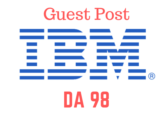 I will do tech guest post on IBM. COM DA 98