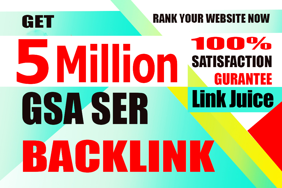 I will create 5 million gsa backlinks for you website faster link juice and quick indexing on google