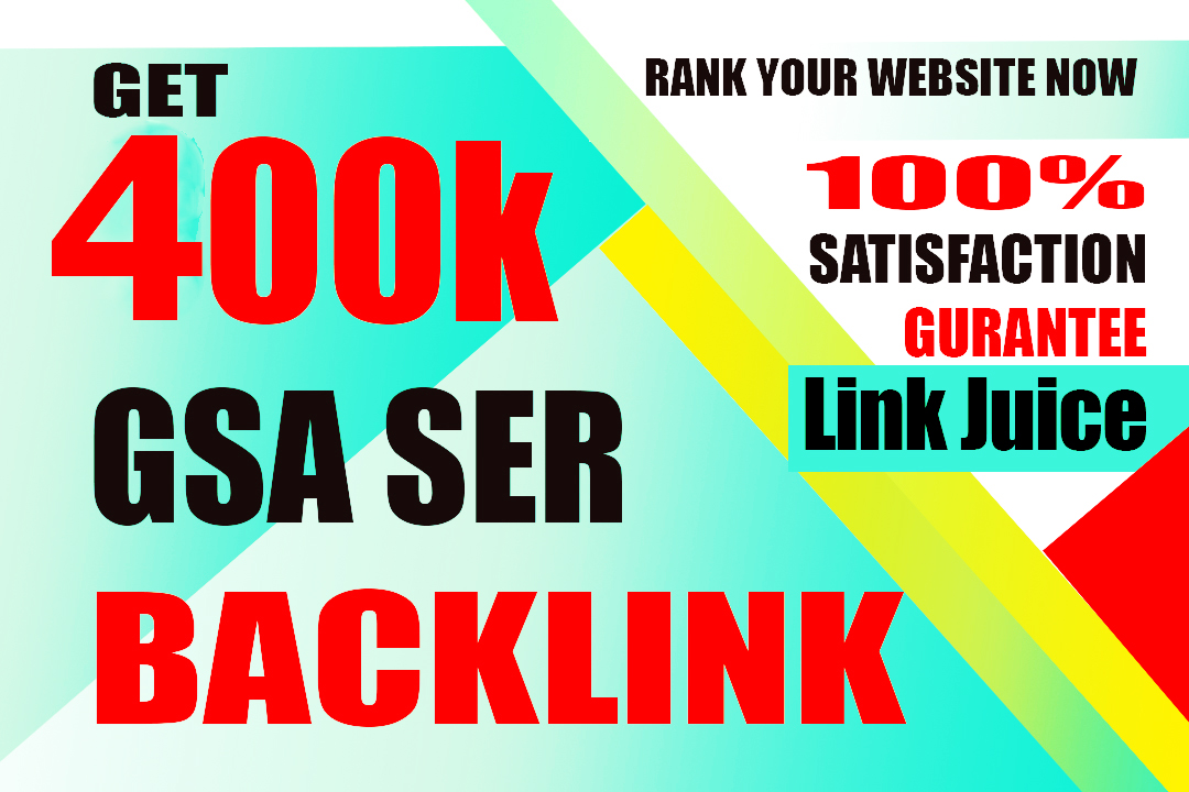 I will create 400k high quality gsa backlinks for faster linkjuice 4 days