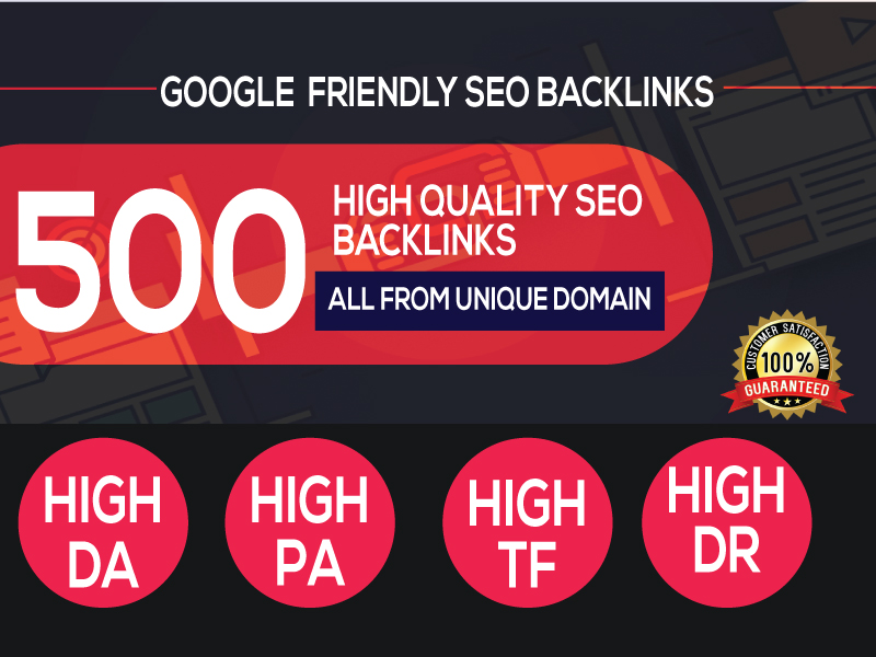 500+PBN Backlink in your website hompage with HIGH DA/PA/TF/CF with unique websites