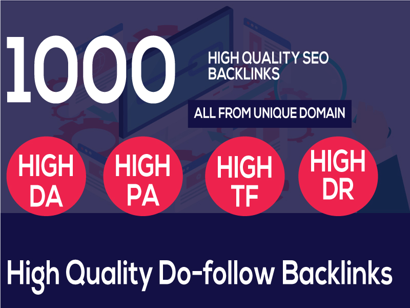 I can Build 1000+ web 2.0 Backlinks, all are from the unique website and manual work.
