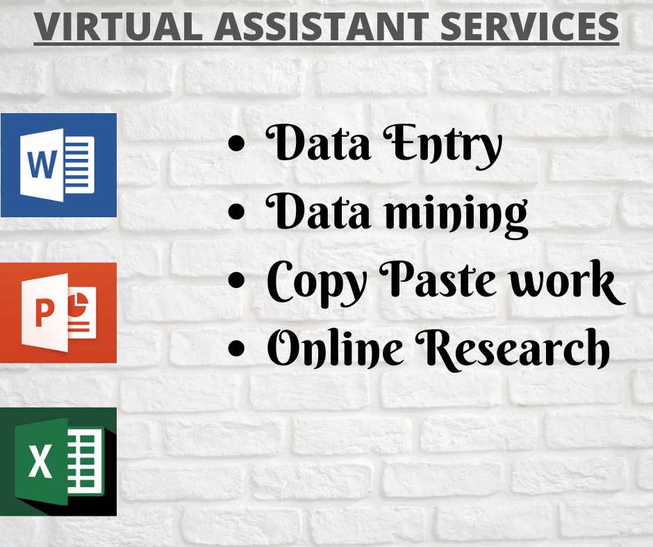I will provide you data entry,  data mining,  web research,  web scraping work
