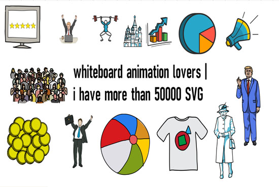 I will create an animated whiteboard animation video