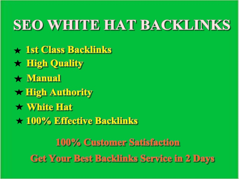 I will create manual seo white hat backlinks service in 2 days
