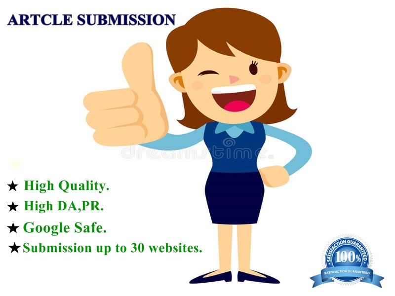 I will do article submission in 30 high DA & PR websites