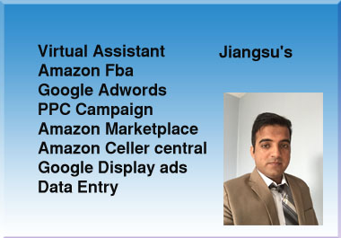 I can be a Virtual assistant and do the data entry, Google adwords,  Amazon Seller central.
