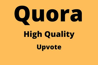 Get 30+ Worldwide Quora UpVotes or followers