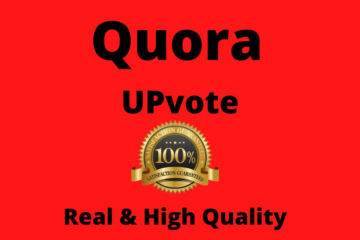 I will do 45+ Worldwide Quora Upvote or Follow